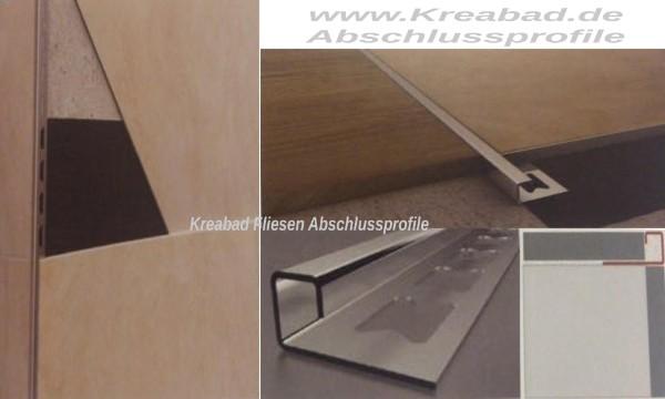fliesenschienen fliesen abschlussprofile fliesenschienen fliesen winkelabschlussprofil edelstahl. Black Bedroom Furniture Sets. Home Design Ideas